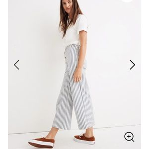 Madewell Emmett Wide Leg Crop Striped Pants 27 EUC